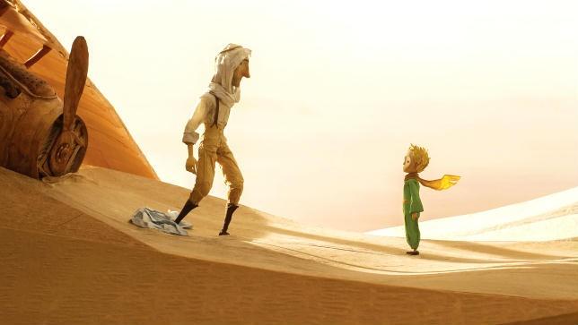 Film di Animazione-Il Piccolo Principe- Incontro tra Aviatore e Piccolo Principe nel deserto