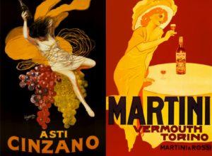 Pubblicità: Asti Cinzano vs Martini Vermouth