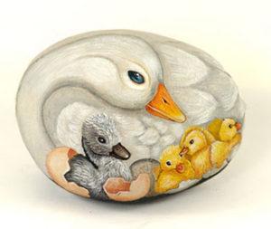 La madre affettiva con i suoi piccoli