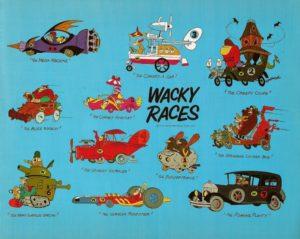 Wacky Races di Hanna-Barbera- dal 1968 al 1969