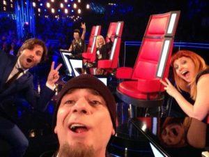 Selfie di J-Ax, R. Carrà, Noemi, P.Pelù, F. Russo