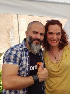 Alessandro Mereu pseudonimo Don Aleamanno & Lara Ceroni al Bologna Comix 2018