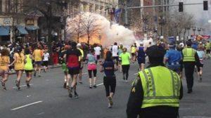 Scena della reale tragedia di Boston del 2013