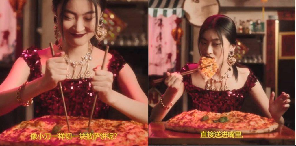 Spot Dolce   Gabbana la pizza con le bacchette cinesi 2018 f71ea43a8da