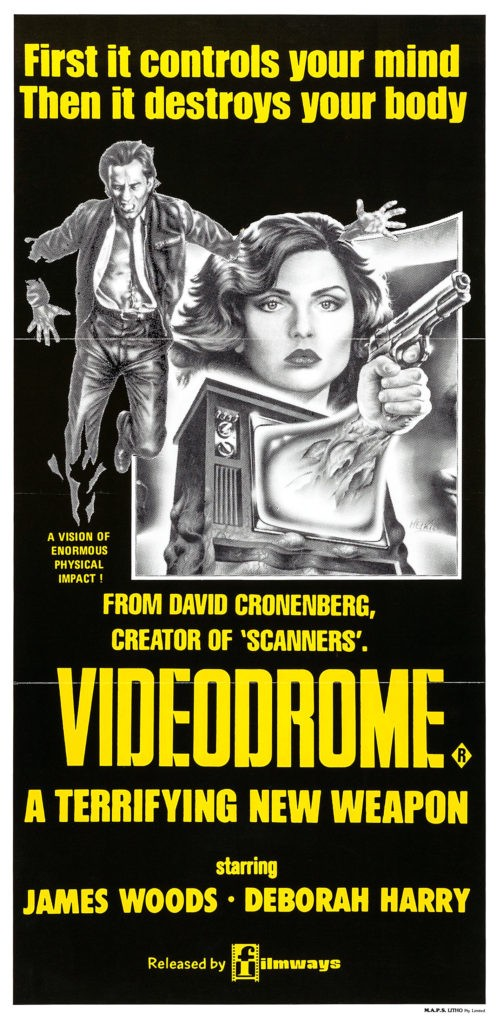 Videodrome_poster_-deglianni-80-Film-Horror-e-Fantascientifico