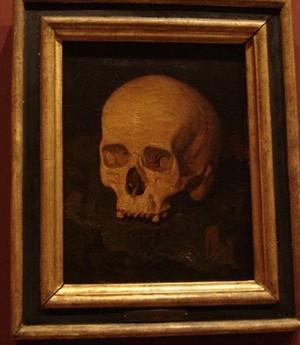 Cràneo-de-Goya-pintado-por-Fierros-(Teschio-di-Goya-dipinto-da-Fierros-1849)