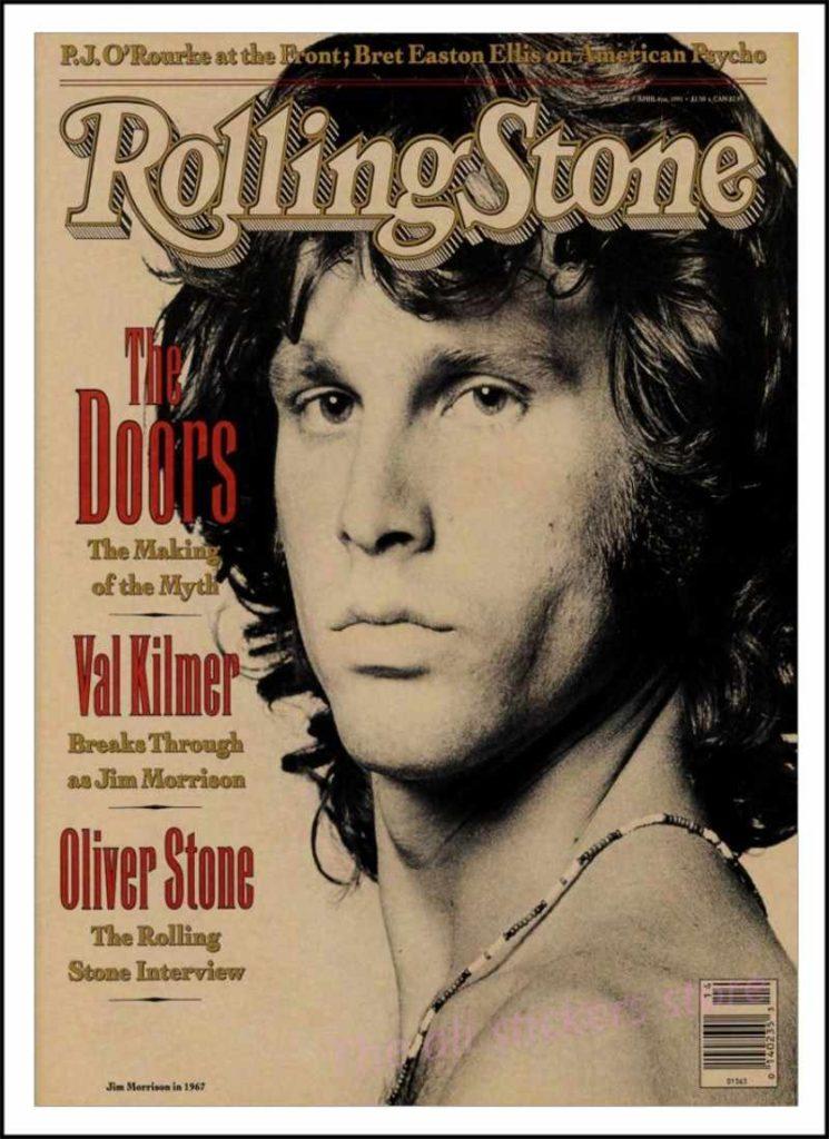 Rolling Stone - Copertina Jim Morisson interpretato da Vald Kilmer