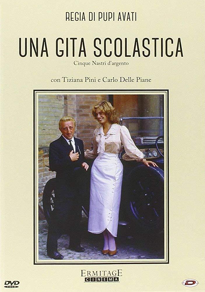 Poster-Una-Gita-Scolastica-Attori-Carlo-Delle-Piane-e-Tiziana-Pini-1983-Regia-Pupi-Avat