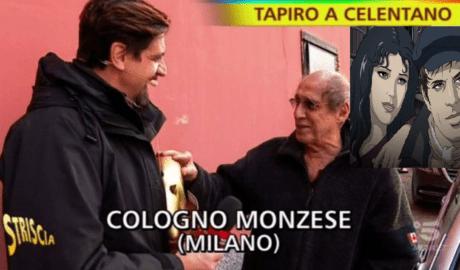 Striscia-la-Notizia-Staffelli-consegna-Tapiro-d-oro-a-Celentano-per-lo-Show-Adrian-Recensione-Comparata-2019