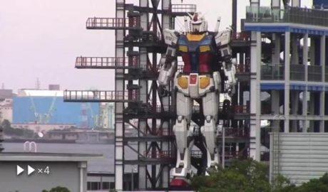 Gundam il robot giapponese è reltà e si muovr