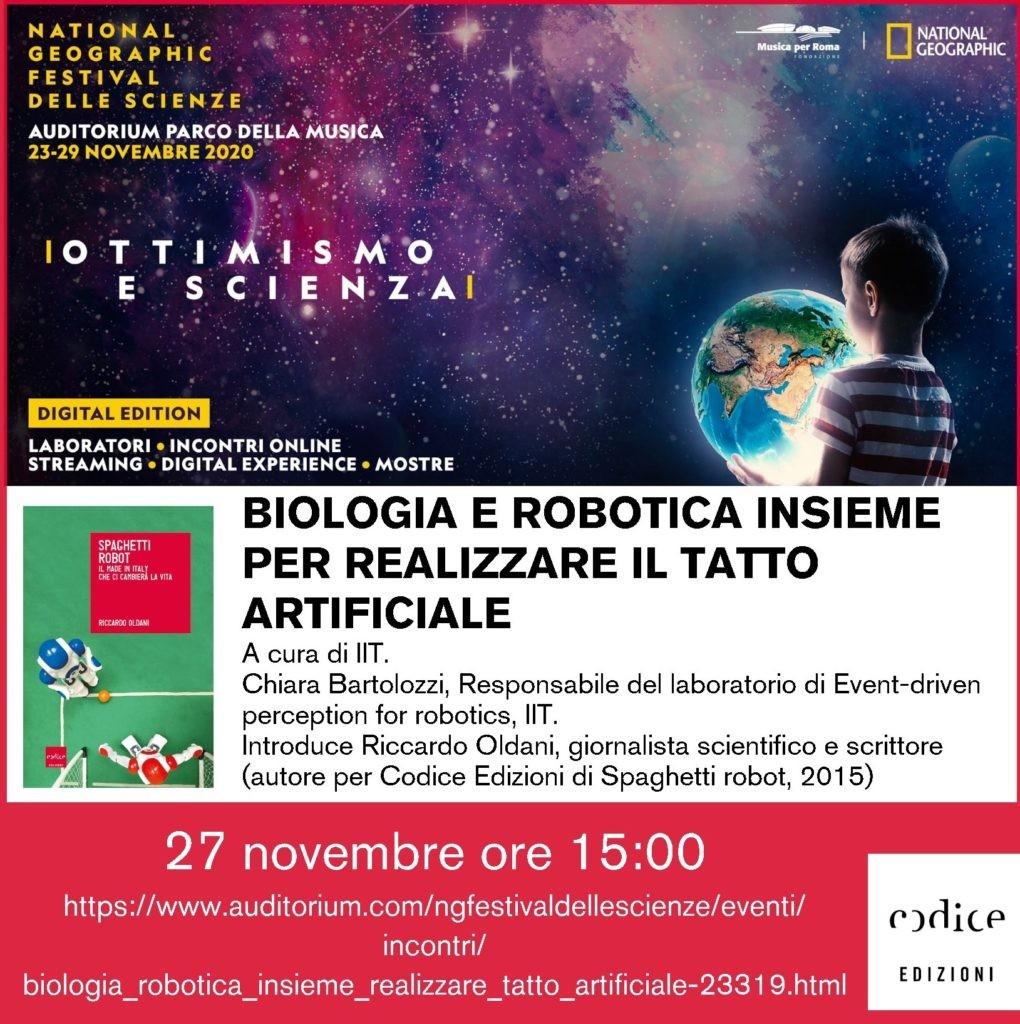 National-Geographic-Festival-delle-Scienze-Partner-Codice-Edizioni-Biologia-e-Robotica-insieme-per-realizzare-il-Tatto-Artificiale
