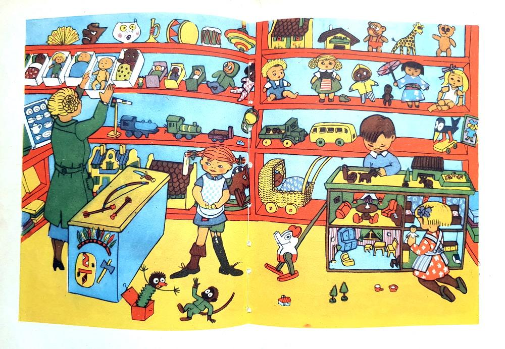 Libro-Pippi-Calzelunghe-Autore-Astrid-Lindgren-Prima-Edizione-Illustrato-Anno-1958.