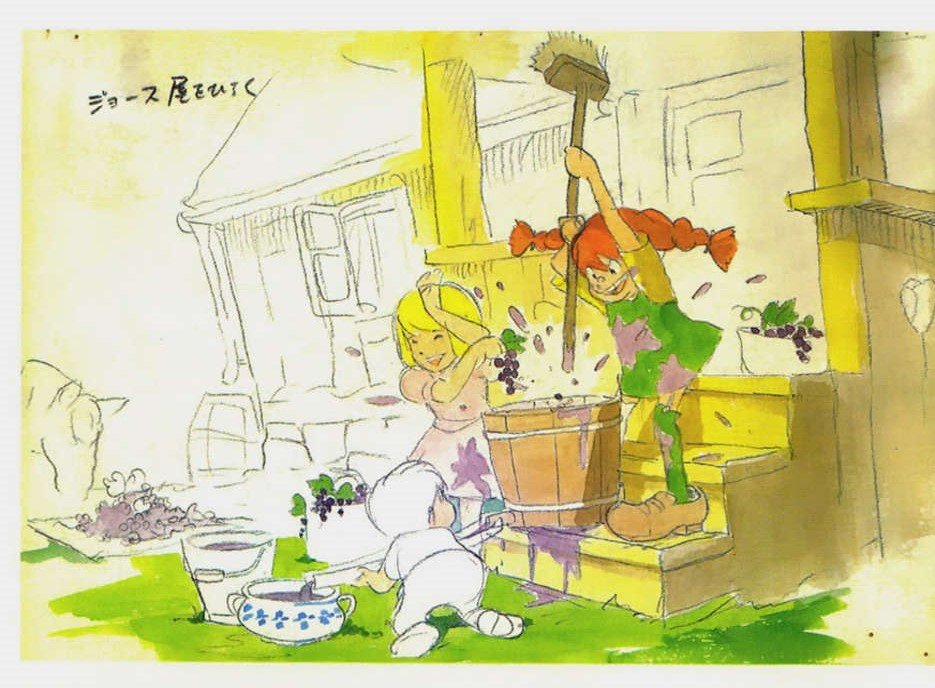 Libro-Pippi-Calzelungne-di-Astrid-Lindgren-Adattamento-Film-Anime-e-Storyboard-di-Hayao-Miyazaki-e-Isao-Takahata