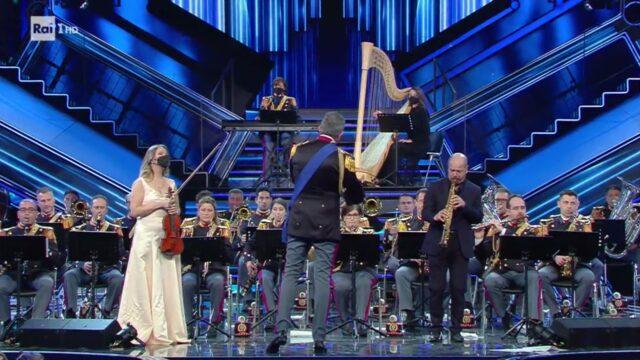 Sanremo-2021-Esibizione della Banda-Musica-della-Polizia-di-Stato