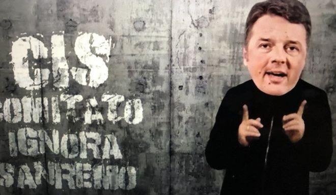 Sanremo-2021-Spot-Pubblicitario-CIS-Comitato-Ignora-Sanremo-Deepfake-Senatore-Matteo-Renzi