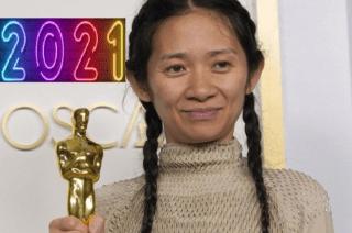 Chloé Zhao- Regista Cinese- Premiazione degli Oscar 2021 per il film Nomadland