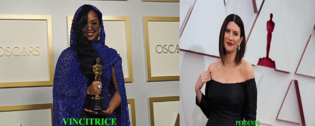 Oscar 2021-Vincitrice-H.E.R. Miglior Canzone-Fight For You VS Perdente -Laura Pausini-Miglior Canzone-Sonora Io sì